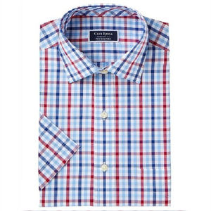 Club Room Men's Classic-Fit Plaid Dress Shirt
